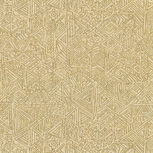 Longmont Gold Global Geometric Wallpaper