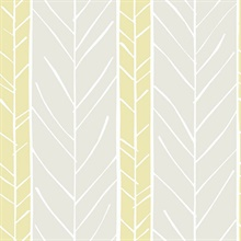 Lottie Yellow Abstract Boho Chic Stripe Twig Wallpaper