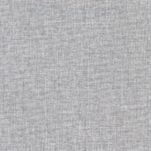 Louis Dark Grey Weathered Faux Linen Commercial Wallpaper
