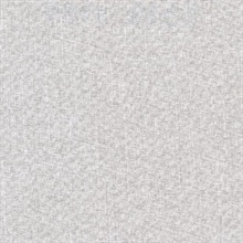Louis Light Grey Weathered Faux Linen Commercial Wallpaper