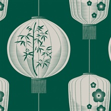 Lucky Lantern - Douglas Fir colourway wallpaper