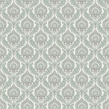 Lulu Dark Green Damask