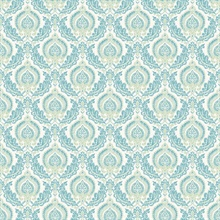 Lulu Green Damask