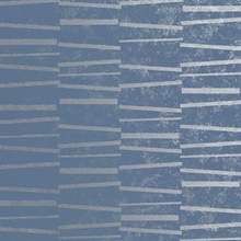 Luminescence Blue Abstract Stripe Wallpaper