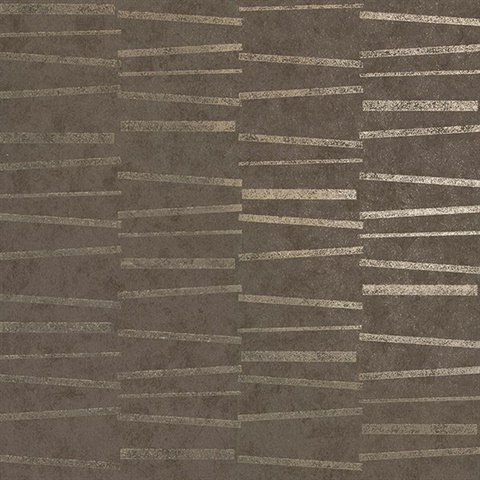 Luminescence Brown Abstract Stripe Wallpaper