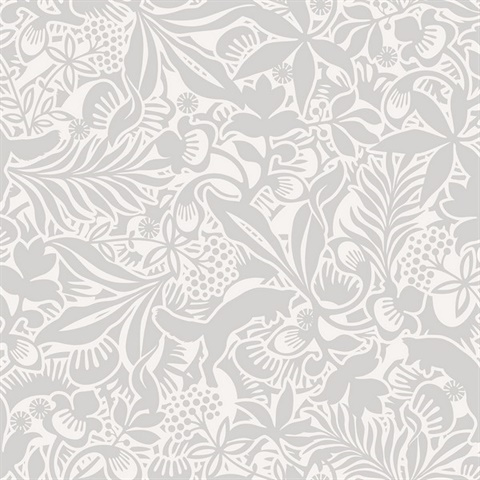 Wv1477 Lummig Grey Fox Wallpaper Boulevard