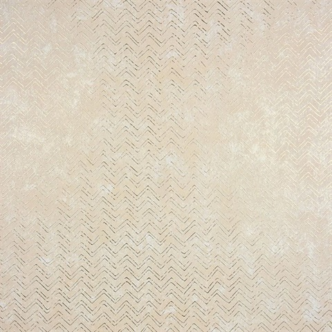 Luna Gold Distressed Chevron Wallpaper