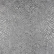 Luna Pewter Distressed Chevron Wallpaper