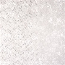 Luna Platinum Distressed Chevron Wallpaper