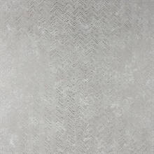 Luna Silver Distressed Chevron Wallpaper