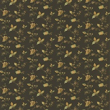 Lydia Dark Brown Jacobean Wallpaper