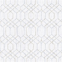 Lyla Grey Trellis Wallpaper