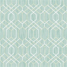 Lyla Teal Trellis Wallpaper