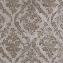 Lyra Bronze Damask Wallpaper