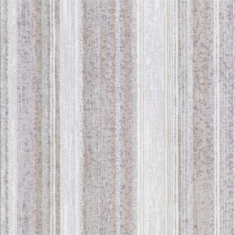 Lyra Lavender Distressed Stripe Wallpaper