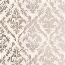 Lyra Light Grey Damask Wallpaper