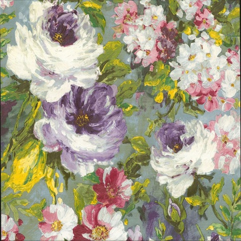 Macau Multicolor Painterly Floral Wallpaper