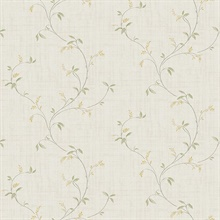 Madeley Grey Floral Scroll Wallpaper