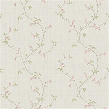 Madeley Pink Floral Trail Wallpaper