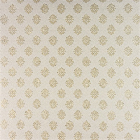 Madelyn Cream Small Damask