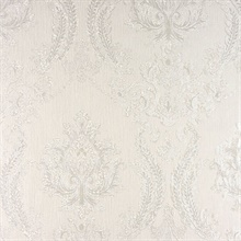 Maizey White Damask