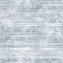 Makayla Blue Distressed Stripe Wallpaper
