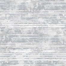 Makayla Grey Distressed Stripe Wallpaper