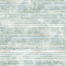 Makayla Sea Green Distressed Stripe Wallpaper