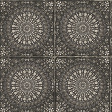 Mandala Boho Chic Medallion Black Wallpaper