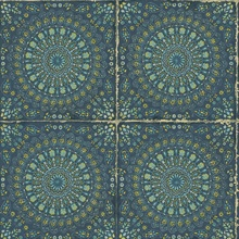 Mandala Boho Chic Medallion Blue Wallpaper