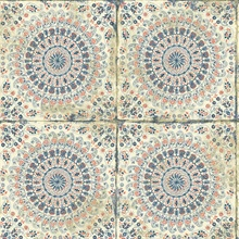 Mandala Boho Chic Medallion Orange Wallpaper