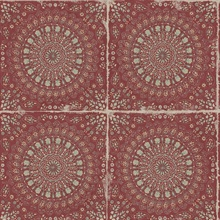 Mandala Boho Chic Medallion Red Wallpaper