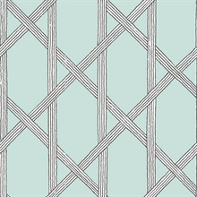 Mandara Light Blue Trellis