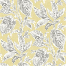 Mangrove Yellow Botanical Leaf Wallpaper