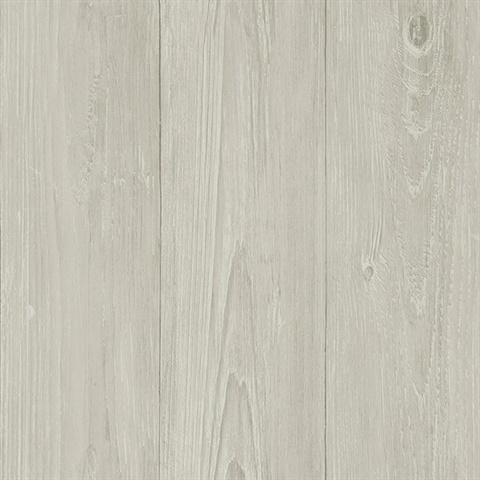 3113 64229 Mapleton Light Grey Faux Wood Wallpaper Boulevard