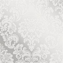 Margot Silver Damask