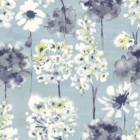 Marilla Blueberry Watercolor Floral
