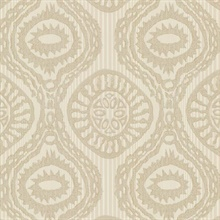 Marrakech Beige Medallion Stripe