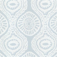 Marrakech Blue Medallion Stripe