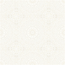 Marrakech Cream Medallion Wallpaper