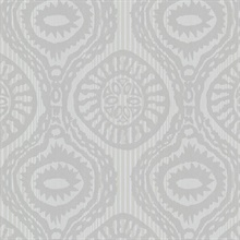 Marrakech Grey Medallion Stripe