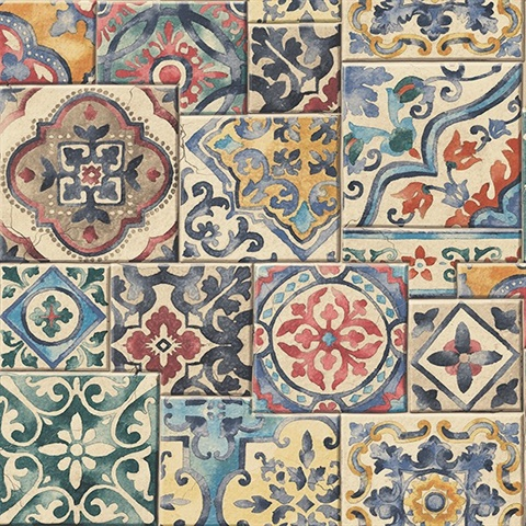 Marrakesh Multicolor Global Tiles Wallpaper