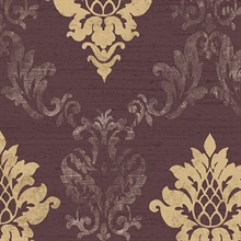 Marron Stephanie Damask