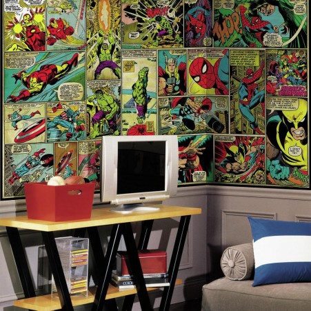 Marvel Classics Comic Panel XL Wallpaper Mural 10.5' x 6'