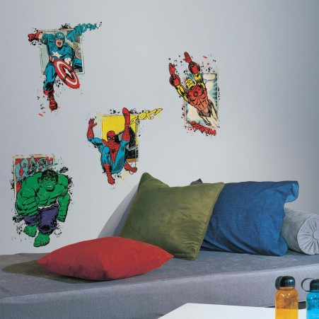 Marvel Super Hero Burst Peel and Stick Giant Wall Decals