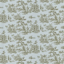 Maxine Light Blue Toile Wallpaper