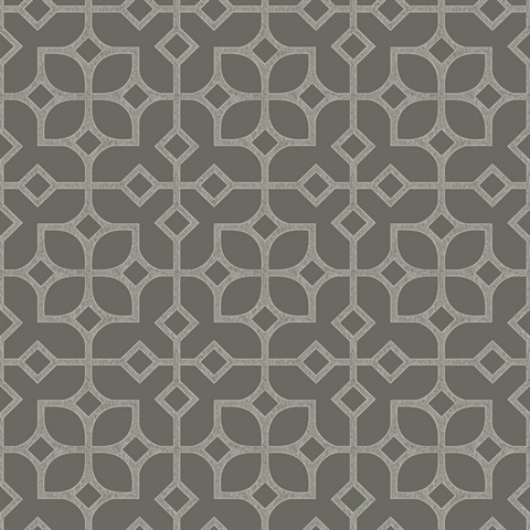 Maze Grey Tile Wallpaper