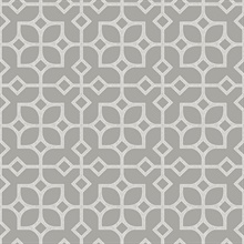 Maze Light Grey Tile Wallpaper