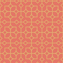 Maze Orange Tile Wallpaper