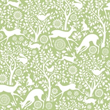 Meadow Green Animals Wallpaper